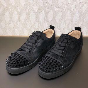 Christian Louboutin women's spiked black sneakers